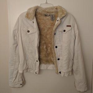 Roxy Jean white corduroy jacket